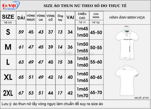 đồng phục chuẩn size nữ 2020