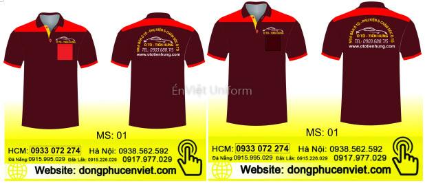 mẫu thiết kế đồng phục garage xe