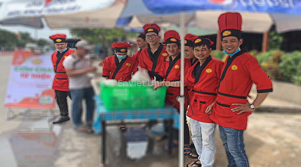 may đồng phục áo bếp dori