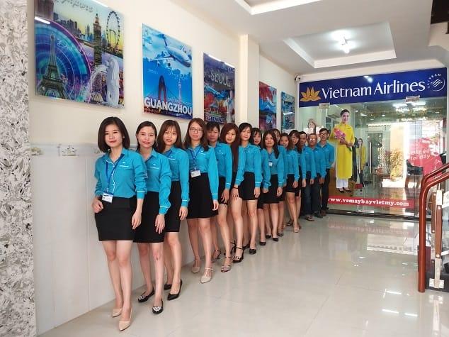 đồng phục bán vé máy bay chuyên nghiệp
